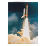 Space Shuttle Discovery Blast Off Card