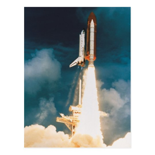 Space Shuttle Discovery Blast Off Postcard