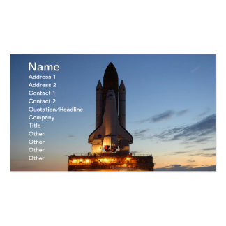 Space shuttle Discovery Business Card Template