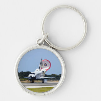 Space Shuttle Discovery Coming Home Silver-Colored Round Keychain