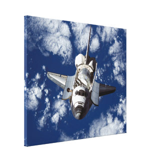 Space Shuttle Discovery In Space Gallery Wrapped Canvas