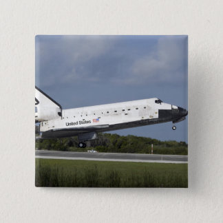 Space shuttle Discovery lands on Runway 33 3 Pinback Button