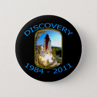 Space Shuttle Discovery Launch Pinback Button