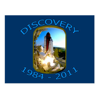 Space Shuttle Discovery Launch Postcard