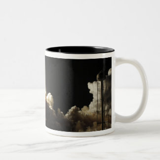 Space shuttle Discovery lifts off Two-Tone Coffee Mug
