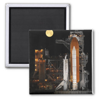 Space Shuttle Discovery on Launch Pad Magnet