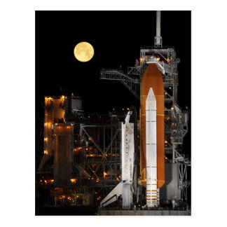 Space Shuttle Discovery on Launch Pad Postcards