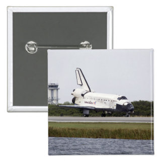 Space Shuttle Discovery on the runway 2 Inch Square Button
