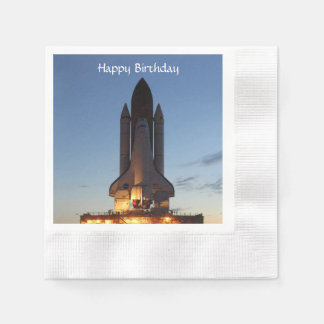 Space shuttle Discovery Coined Cocktail Napkin