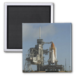 Space Shuttle Discovery sits ready 2 2 Inch Square Magnet