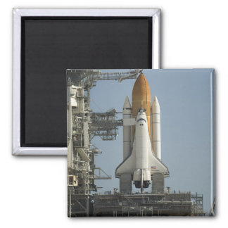 Space Shuttle Discovery sits ready 2 Inch Square Magnet