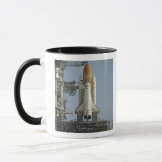 Space Shuttle Discovery sits ready Mug