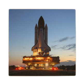 Space shuttle Discovery Wooden Coaster