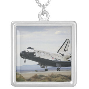 Space Shuttle Discovery's main landing gear Silver Plated Necklace