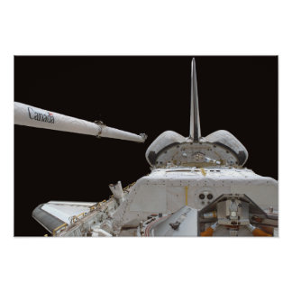 Space Shuttle Discovery's payload bay Poster