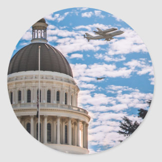 Space Shuttle Endeavor Classic Round Sticker