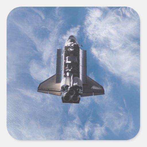 Space Shuttle Endeavour 22 Square Sticker
