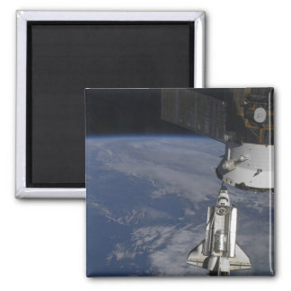 Space shuttle Endeavour 2 2 Inch Square Magnet