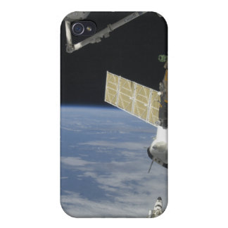 Space shuttle Endeavour, a Soyuz spacecraft iPhone 4 Covers