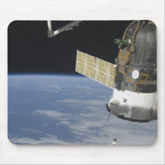 Space shuttle Endeavour, a Soyuz spacecraft Mouse Pad