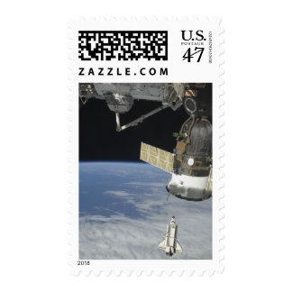 Space shuttle Endeavour, a Soyuz spacecraft Postage