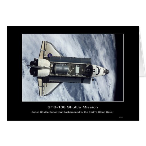Space Shuttle Endeavour Above Eart... - Customized Cards