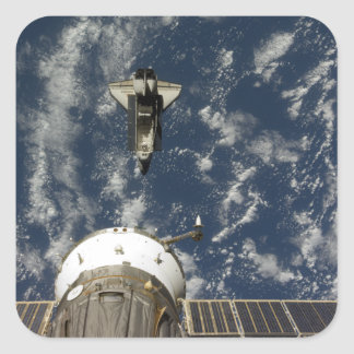 Space Shuttle Endeavour and a Soyuz spacecraft Sticker