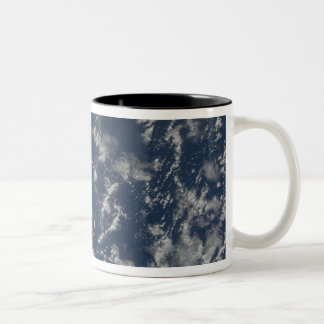Space Shuttle Endeavour and a Soyuz spacecraft Two-Tone Coffee Mug
