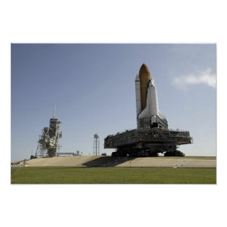 Space Shuttle Endeavour approaches the launch p Posters