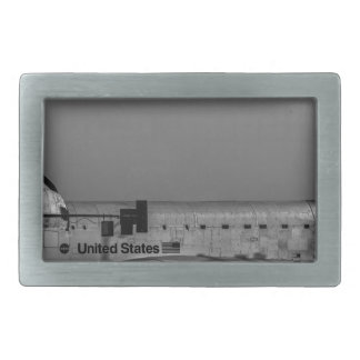 Space Shuttle Endeavour at The Forum Rectangular Belt Buckle