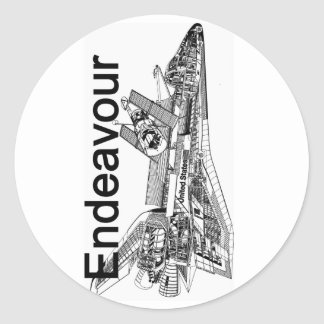 Space Shuttle Endeavour Classic Round Sticker