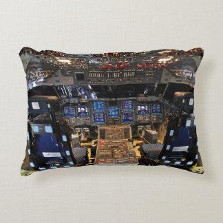 Space Shuttle Endeavour Cockpit Accent Pillow