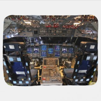Space Shuttle Endeavour Cockpit Baby Blanket