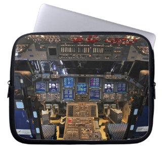 Space Shuttle Endeavour Cockpit Laptop Sleeve