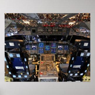 Space Shuttle Endeavour Cockpit Poster