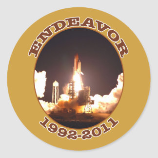 Space Shuttle Endeavour Final Launch Classic Round Sticker