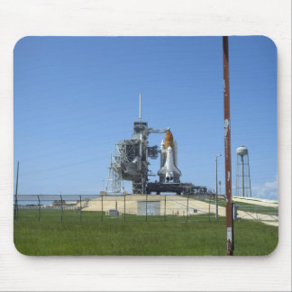 Space shuttle Endeavour is framed by a windsock Mouse Pad