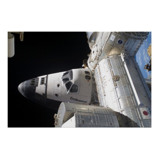 Space Shuttle Endeavour & ISS Poster