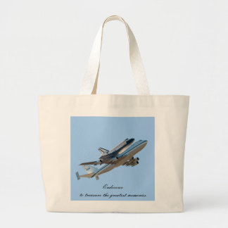 Space shuttle Endeavour Large Tote Bag