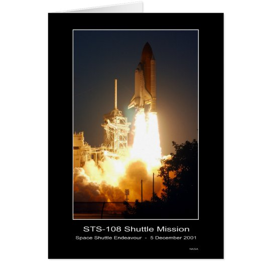 Space Shuttle Endeavour Lift-off S... - Customized Card