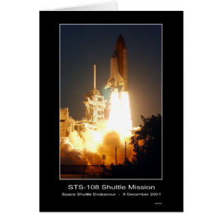 Space Shuttle Endeavour Lift-off S... - Customized Greeting Card