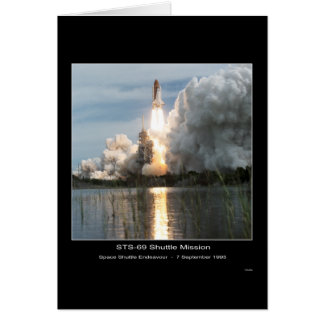 Space Shuttle Endeavour Lift-off STS-69 Greeting Card