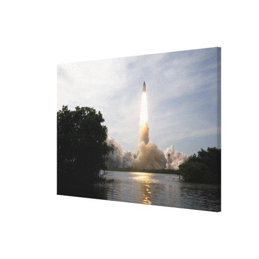 Space Shuttle Endeavour lifts off 2 Canvas Print