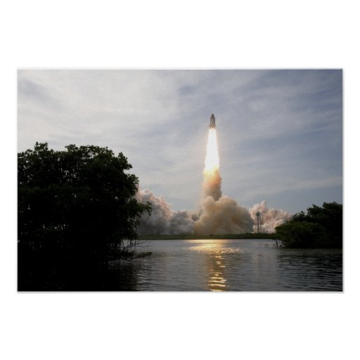 Space Shuttle Endeavour lifts off 2 Poster