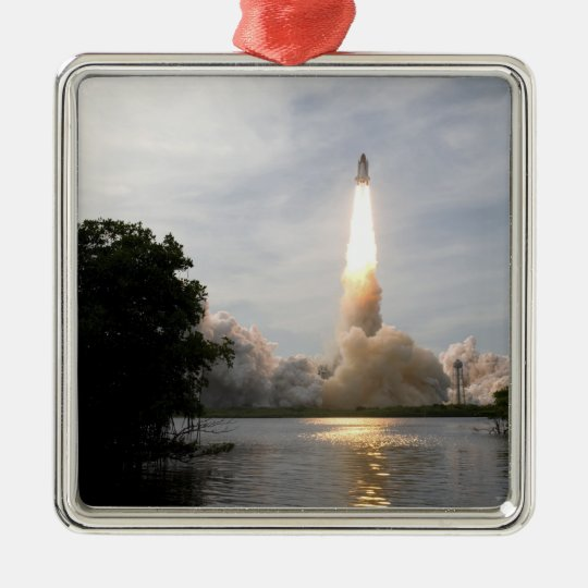 Space Shuttle Endeavour lifts off 4 Metal Ornament