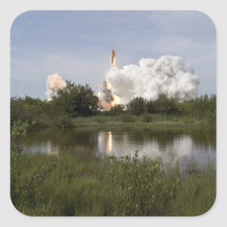 Space Shuttle Endeavour lifts off 6 Square Sticker
