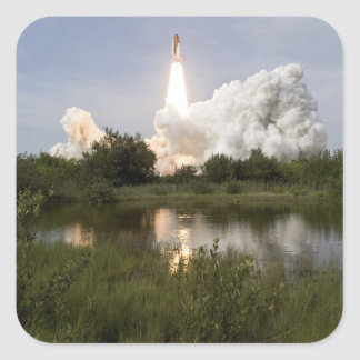 Space Shuttle Endeavour lifts off 7 Square Sticker