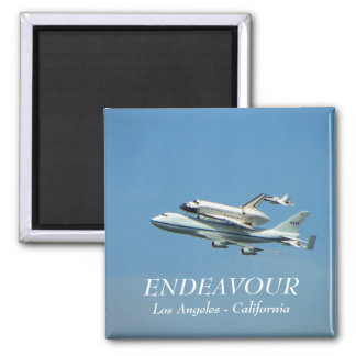 Space Shuttle Endeavour Magnet! 2 Inch Square Magnet