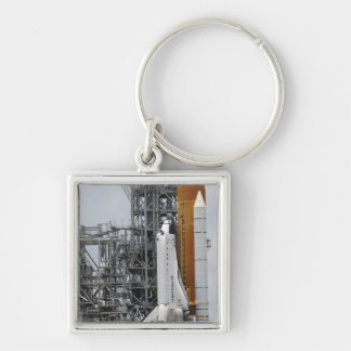Space Shuttle Endeavour on the launch pad 2 Keychain