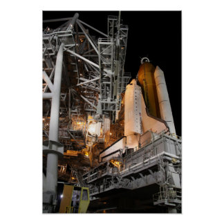 Space Shuttle Endeavour on the launch pad 2 Poster